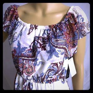 NWT sequin hearts white flower print maxi dress.👗